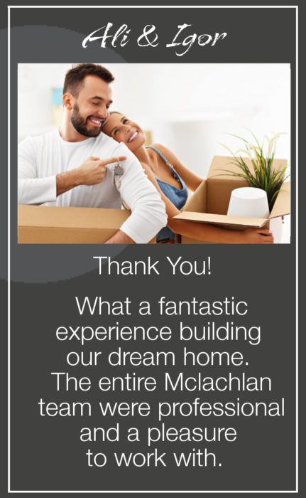 MCLACHLAN HOMES REVIEWS